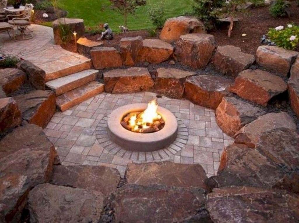 Fabulous Stone Fire Pit Design And Decor Ideas 14