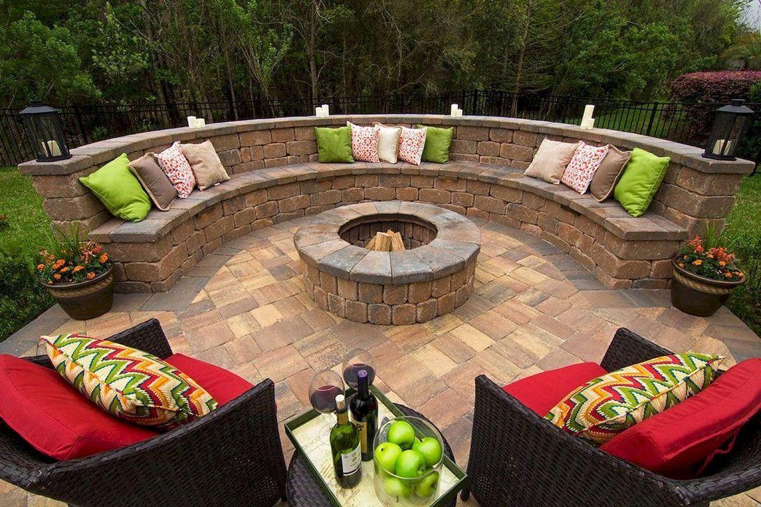Fabulous Stone Fire Pit Design And Decor Ideas 15