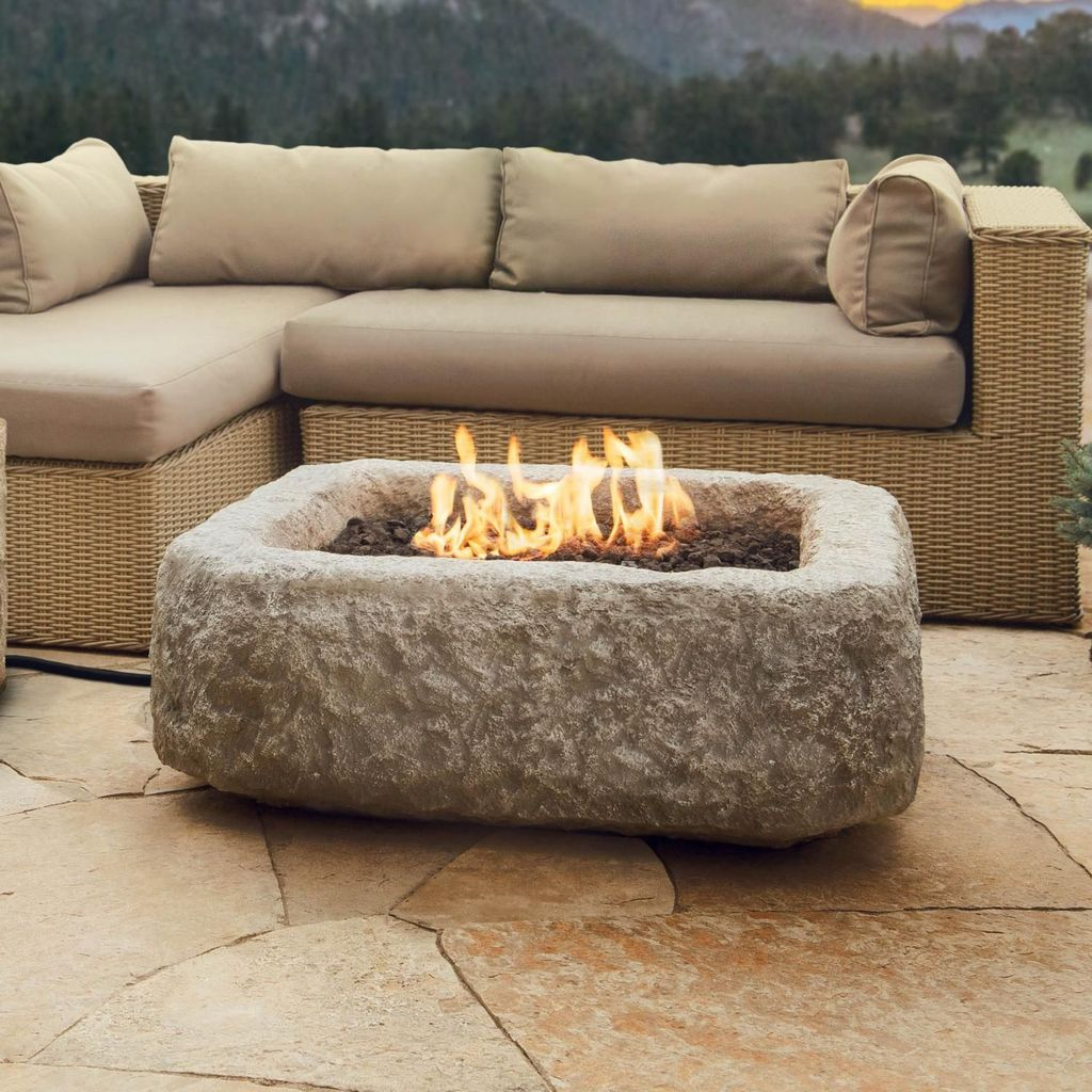 Fabulous Stone Fire Pit Design And Decor Ideas 26