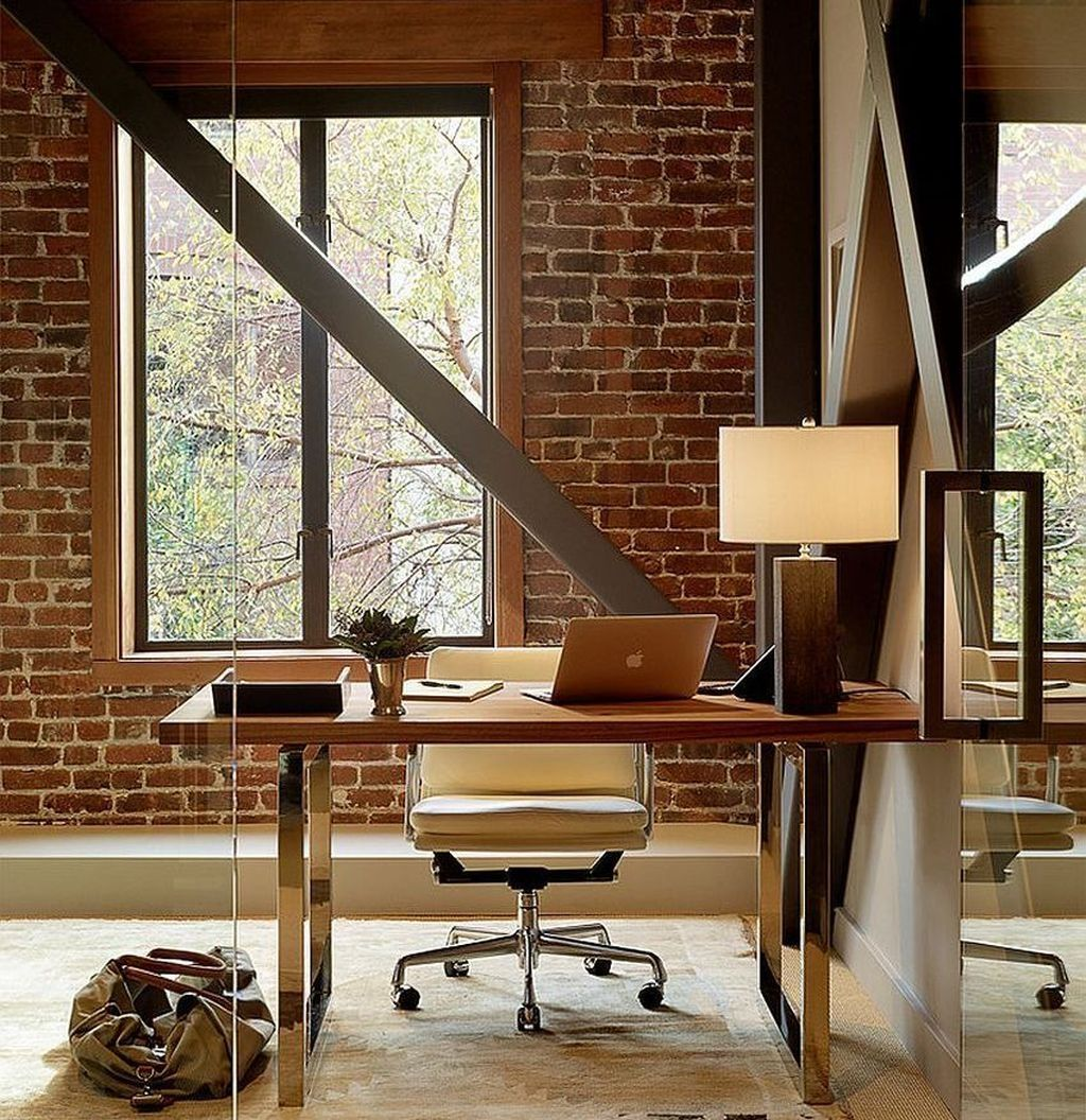 Gorgeous Home Office Design Ideas For Men 04