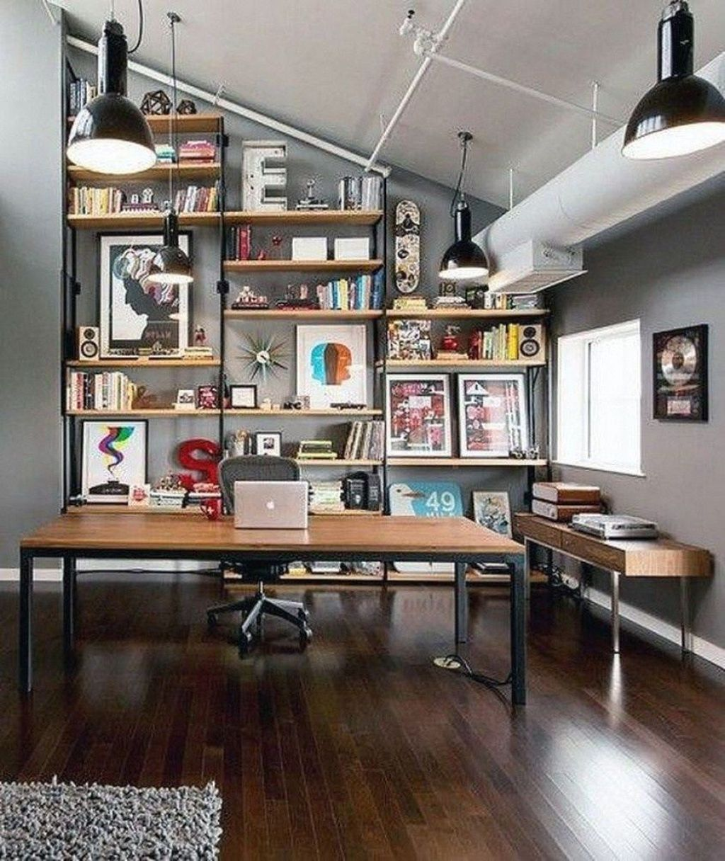 Gorgeous Home Office Design Ideas For Men 05