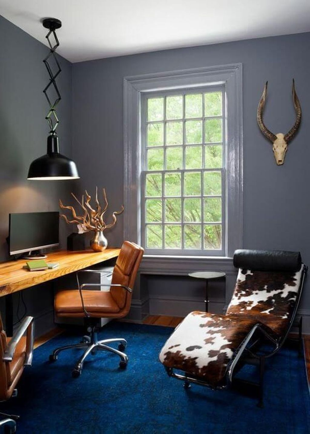 Gorgeous Home Office Design Ideas For Men 32