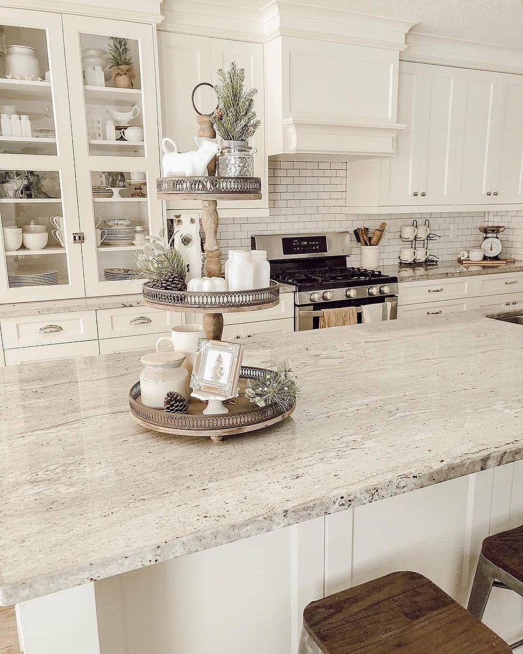 Gorgeous Kitchen Countertops Design Ideas 30