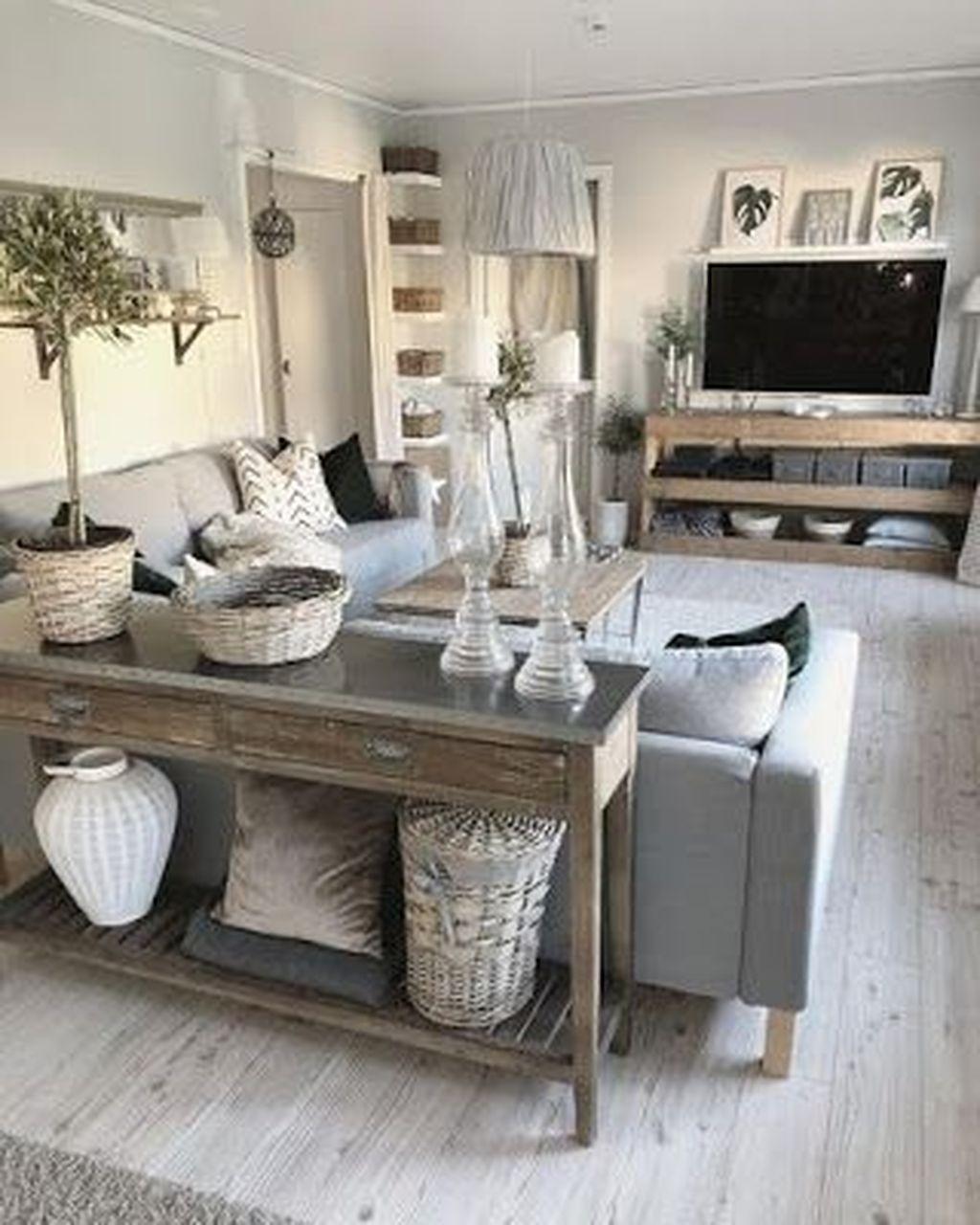 Incredible Rustic Farmhouse Living Room Design Ideas 04