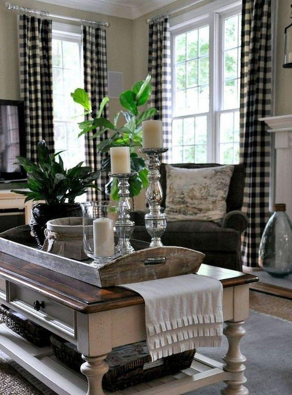 Incredible Rustic Farmhouse Living Room Design Ideas 08