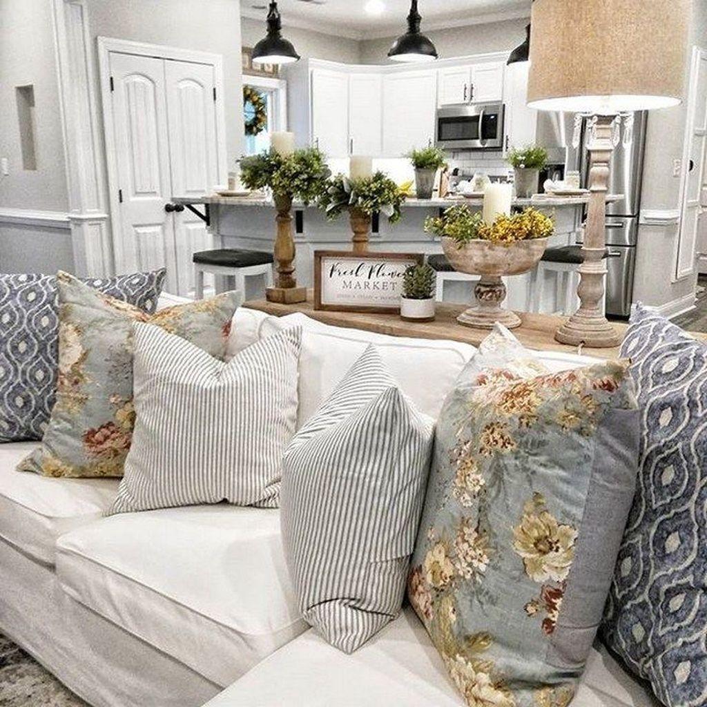 Incredible Rustic Farmhouse Living Room Design Ideas 34
