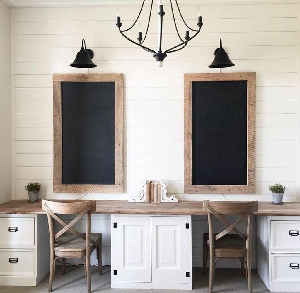 Inspiring Double Desk Home Office Design Ideas 12