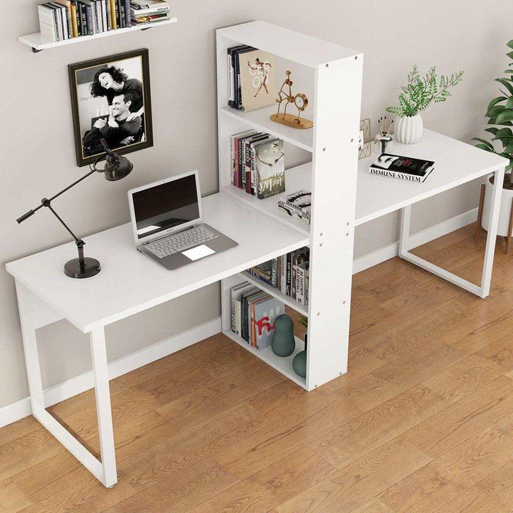 Inspiring Double Desk Home Office Design Ideas 18