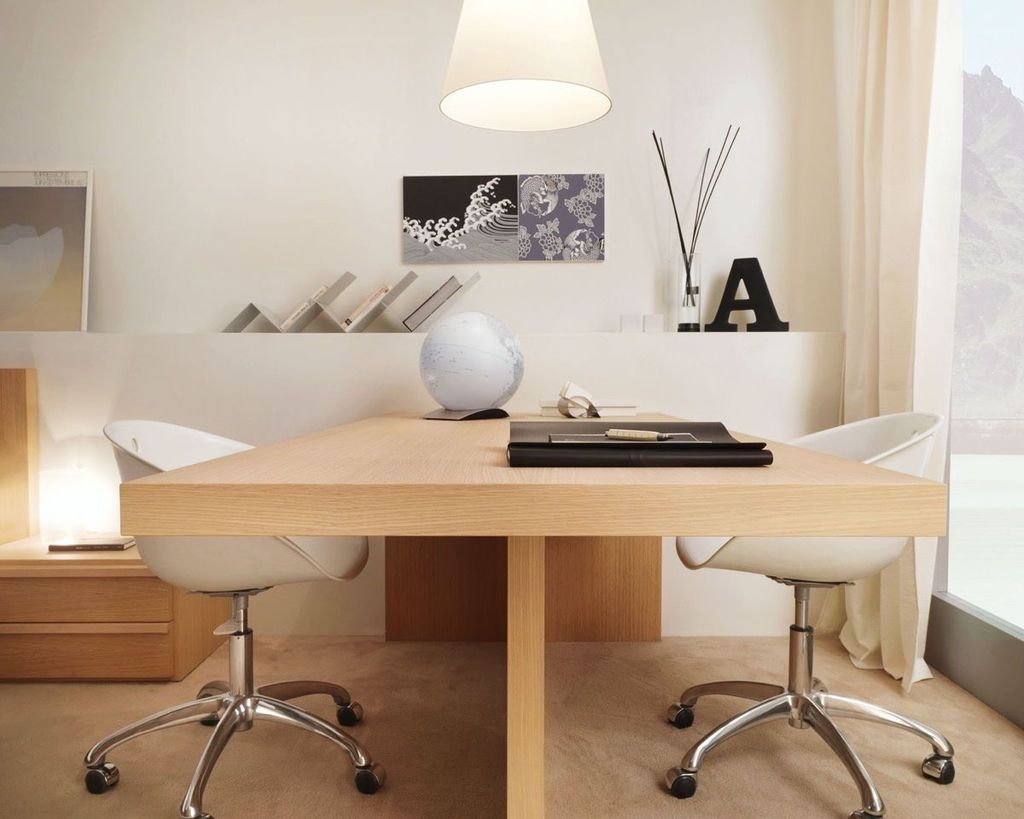 Inspiring Double Desk Home Office Design Ideas 23