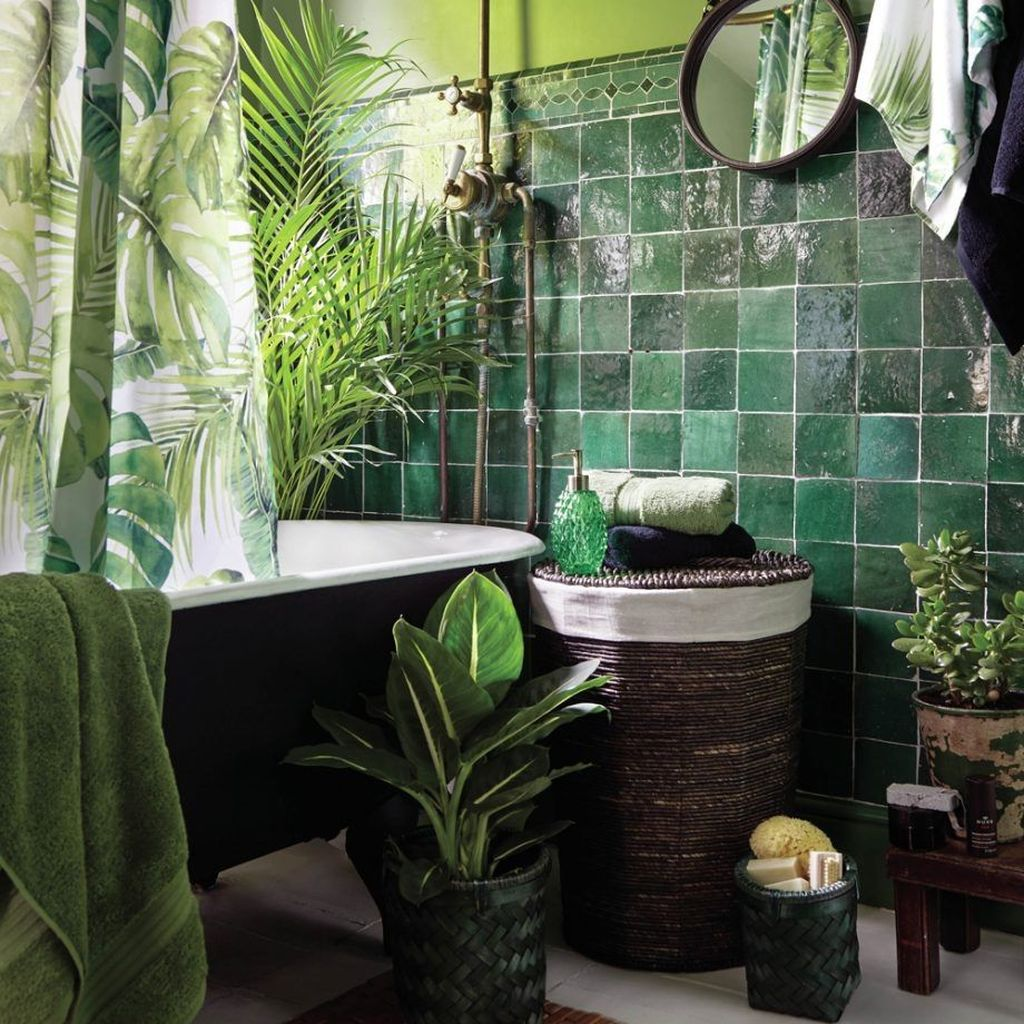 33 inspiring jungle bathroom decor ideas - magzhouse