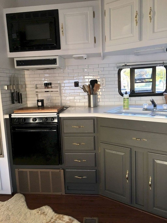 Inspiring RV Kitchen Design And Decor Ideas 07