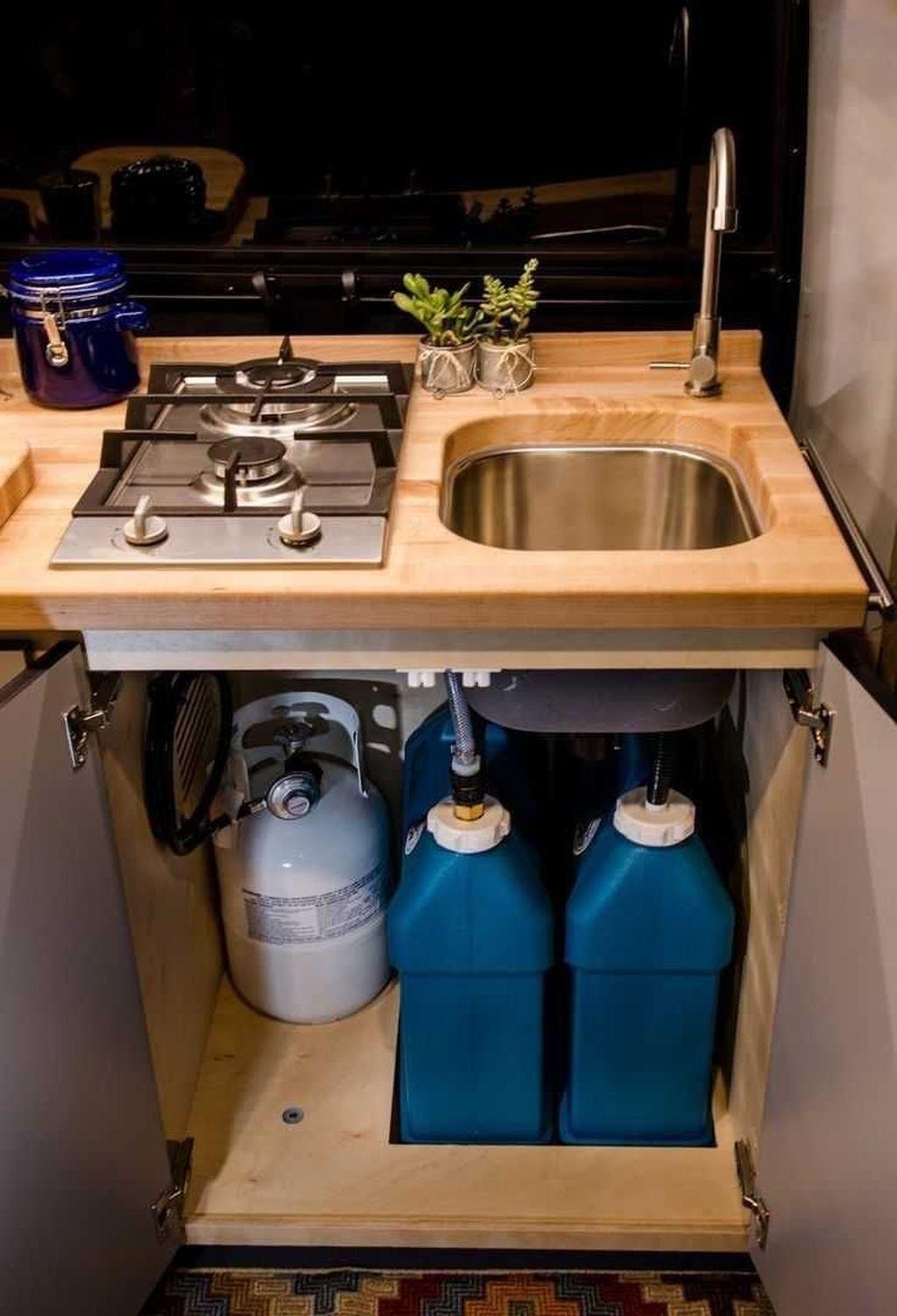Inspiring RV Kitchen Design And Decor Ideas 08