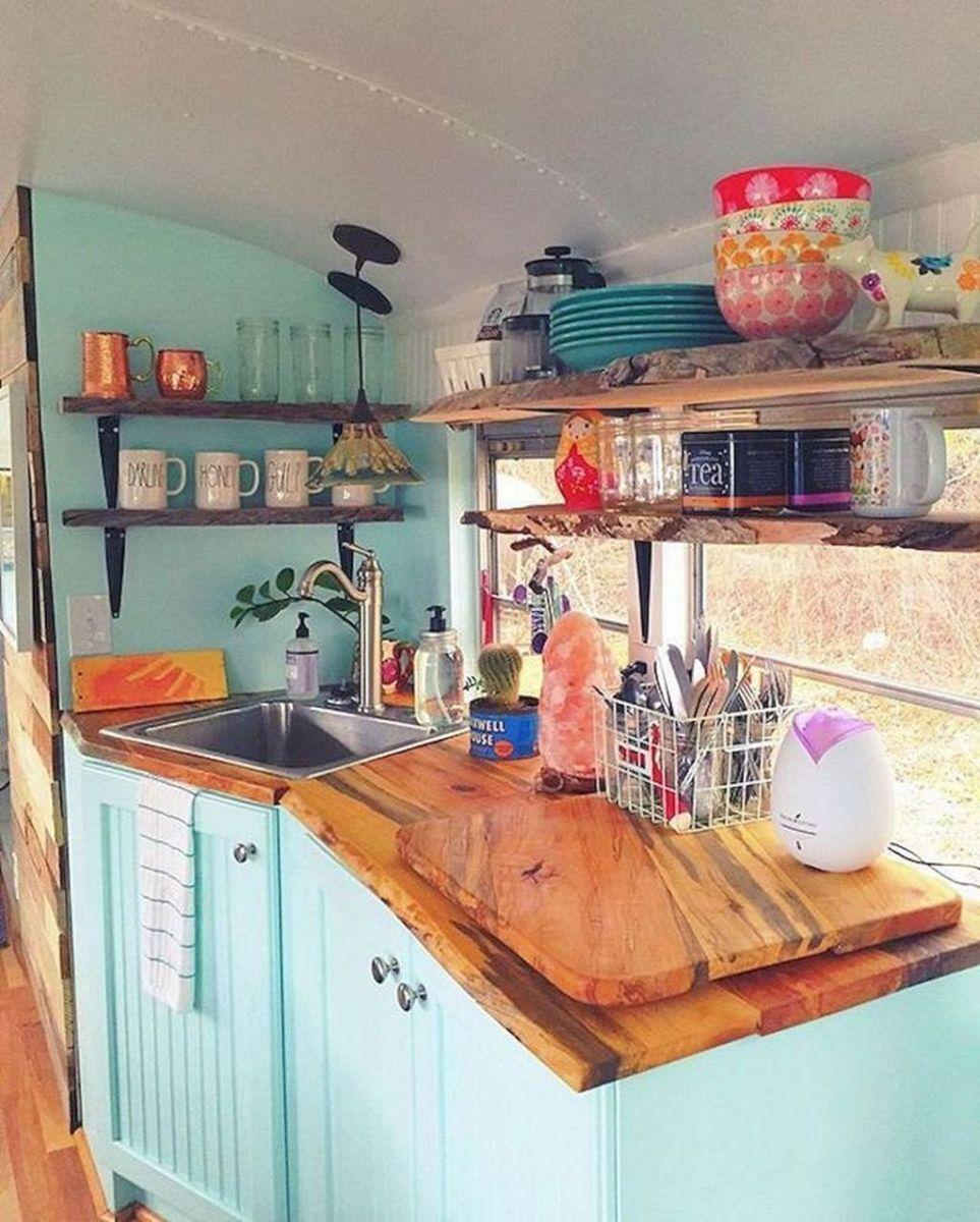 Inspiring RV Kitchen Design And Decor Ideas 14