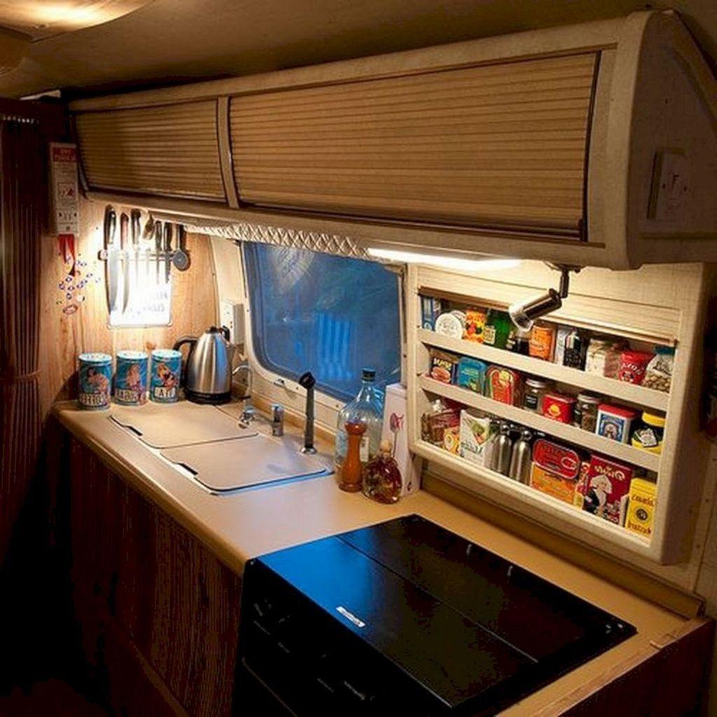 Inspiring RV Kitchen Design And Decor Ideas 32