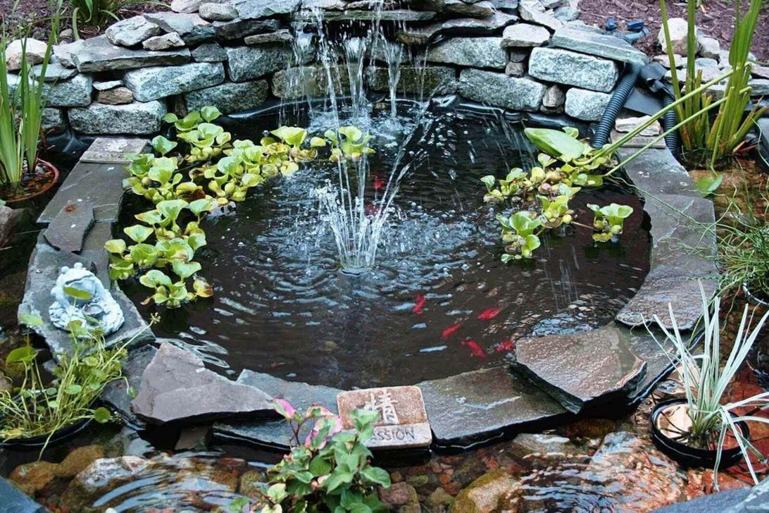 Nice Fish Ponds Backyard Decoration Ideas 02