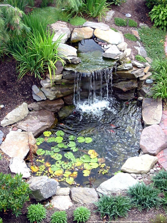 Nice Fish Ponds Backyard Decoration Ideas 05