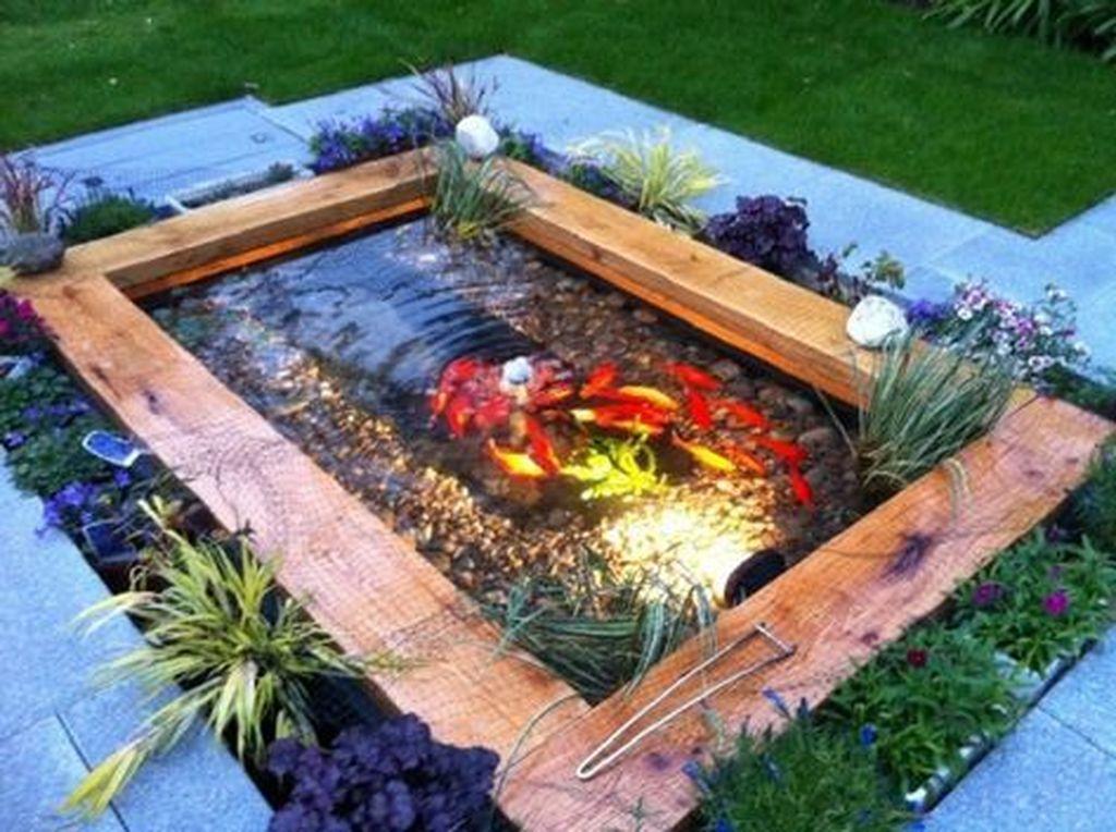 Nice Fish Ponds Backyard Decoration Ideas 23