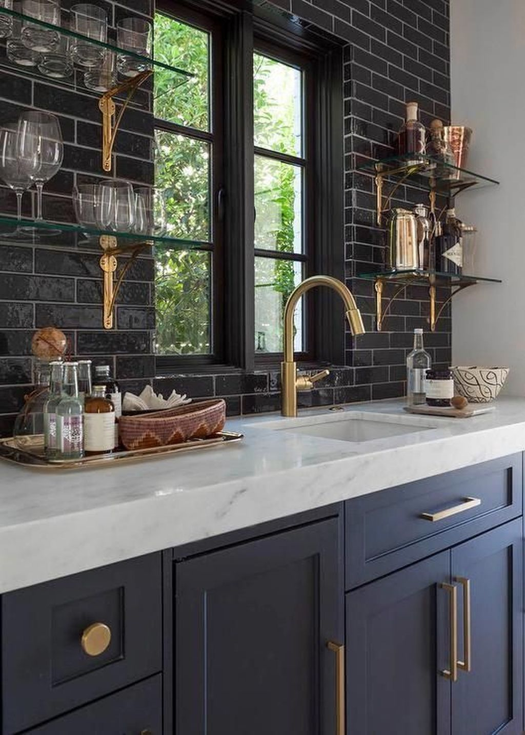 Stunning Navy Kitchen Cabinets Ideas You Have Must See 06