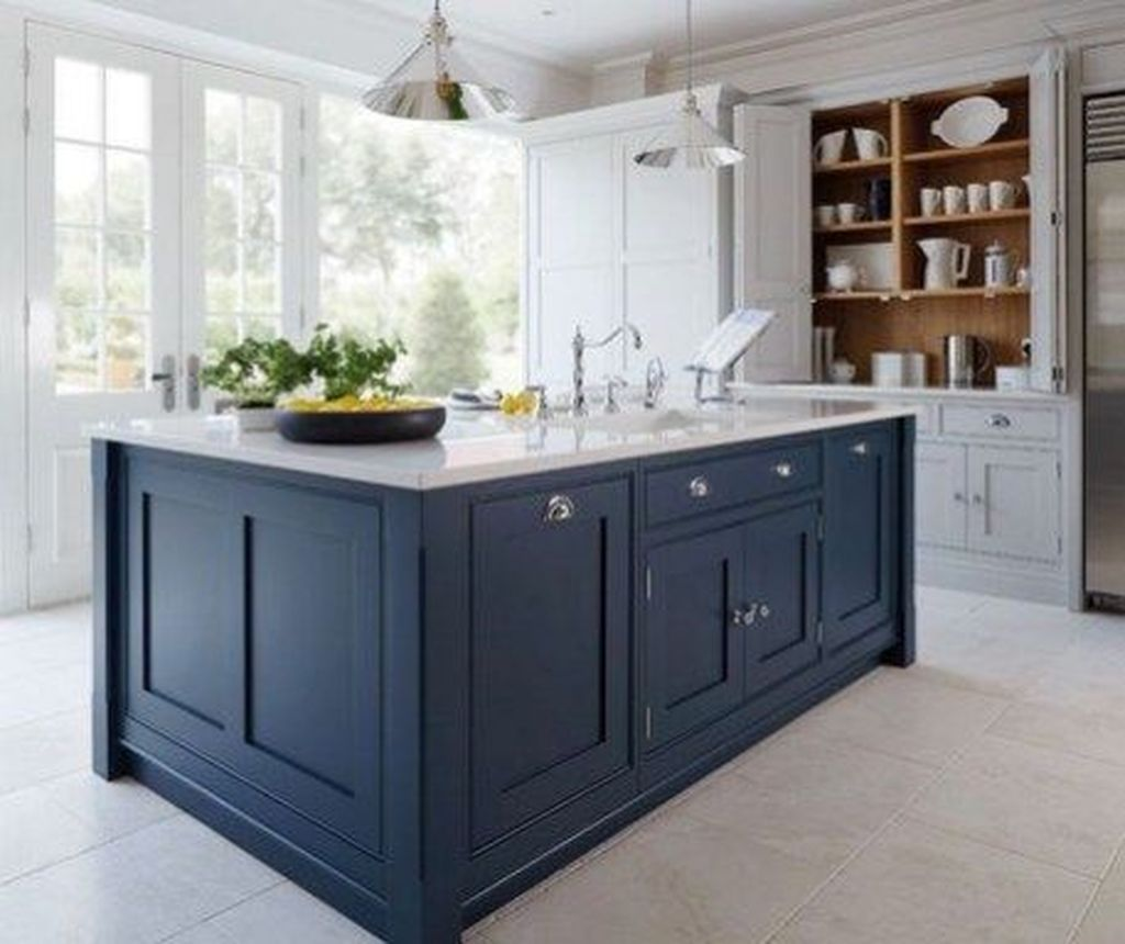 Stunning Navy Kitchen Cabinets Ideas You Have Must See 18