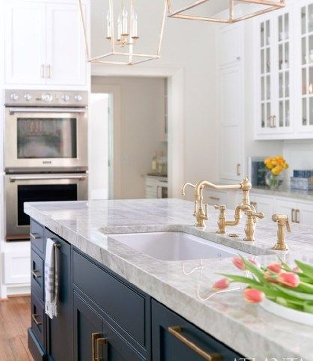 Stunning Navy Kitchen Cabinets Ideas You Have Must See 22