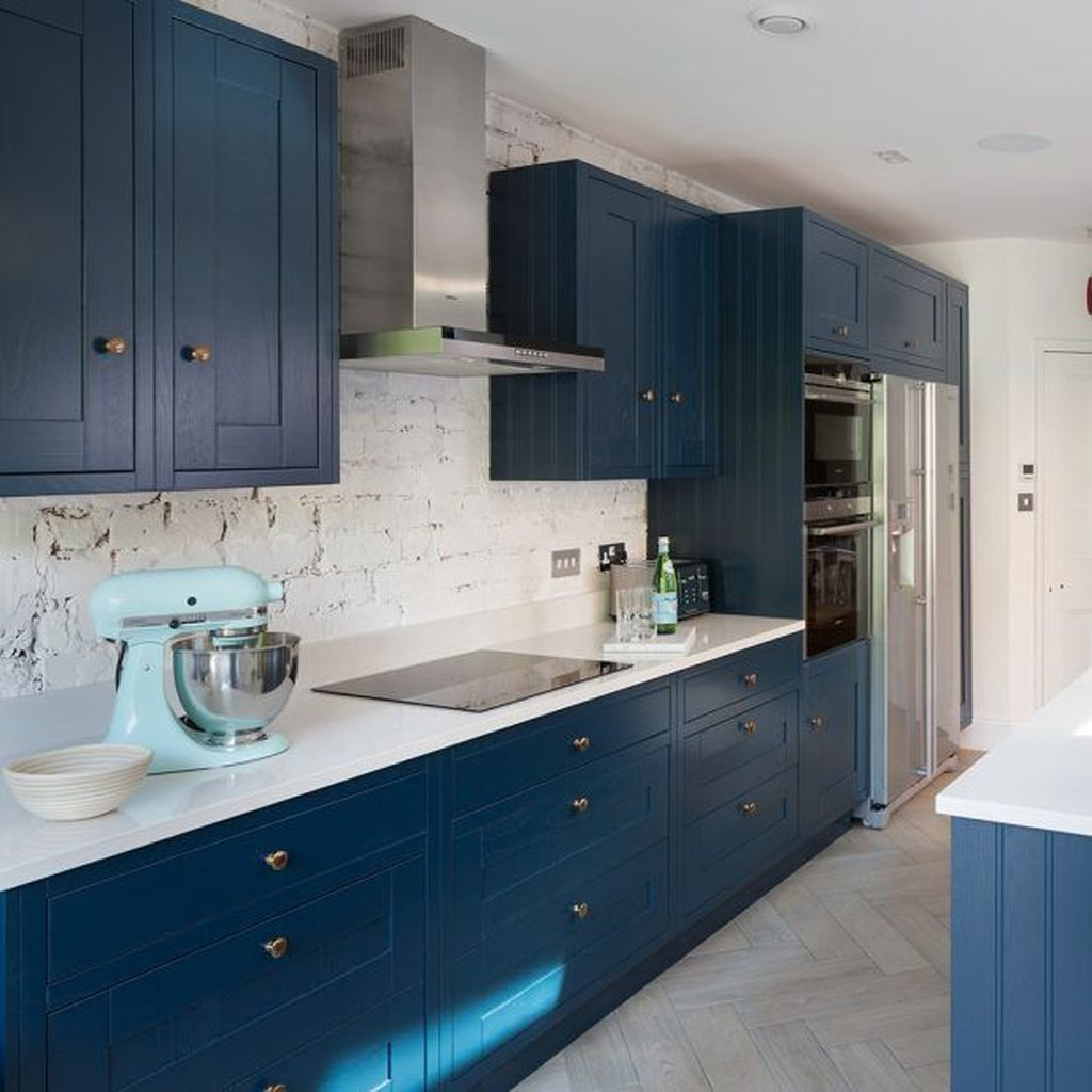 Stunning Navy Kitchen Cabinets Ideas You Have Must See 26