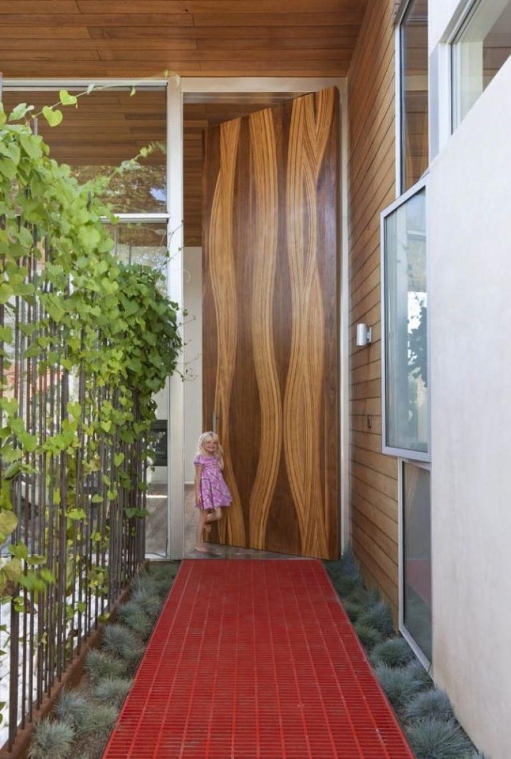 The Best Modern Front Entrance Exterior Design Ideas 19