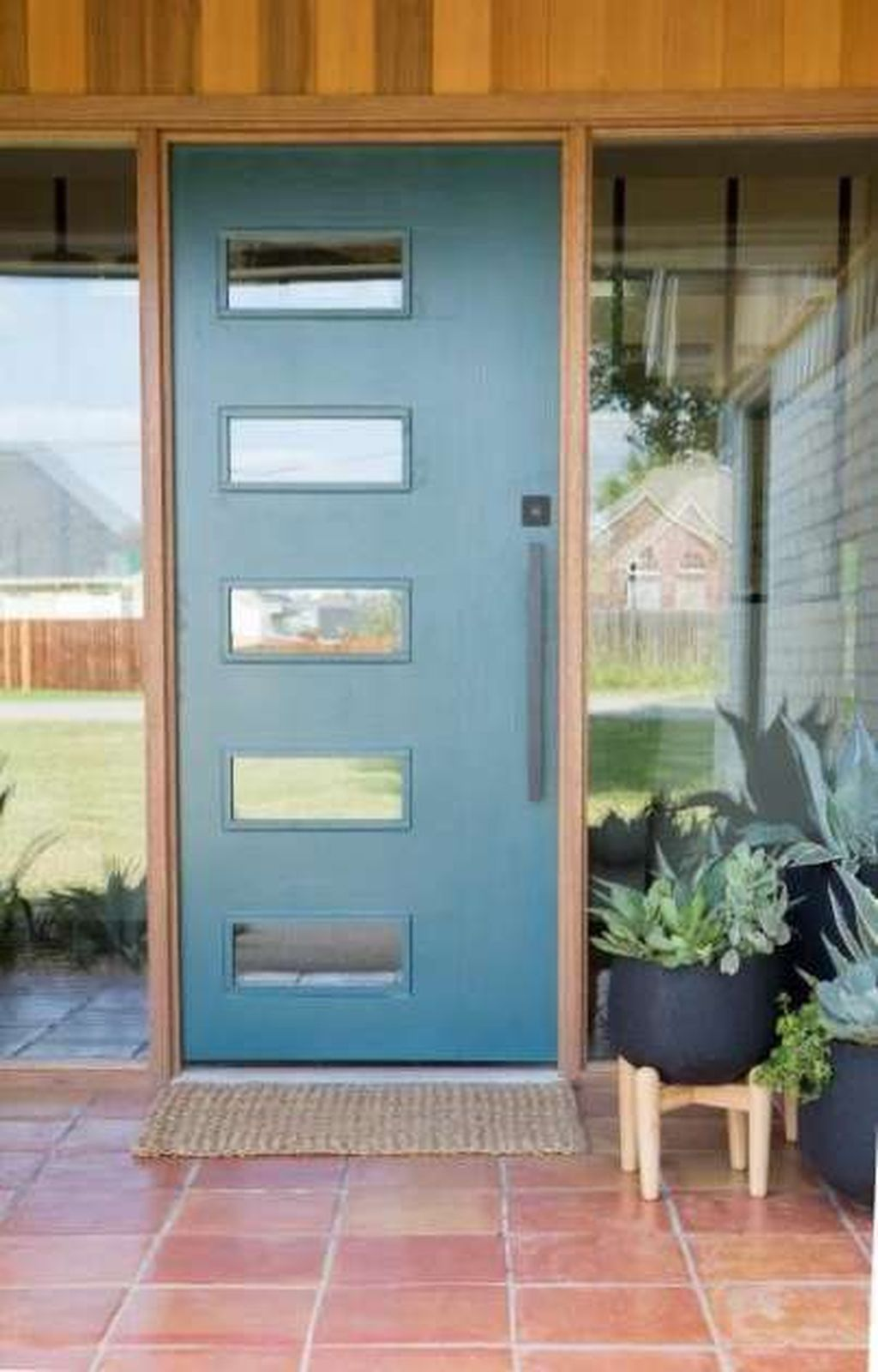 The Best Modern Front Entrance Exterior Design Ideas 23