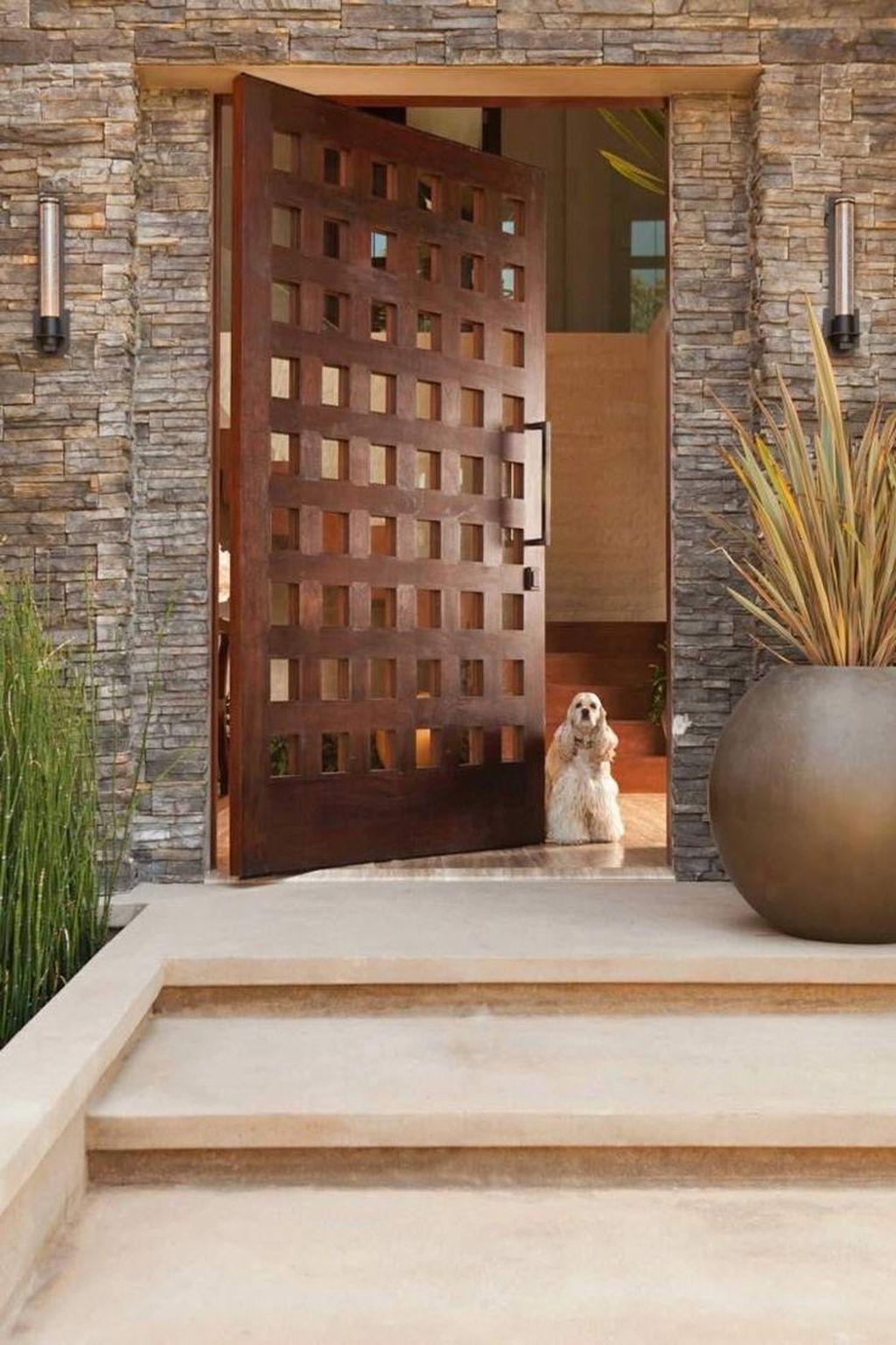 The Best Modern Front Entrance Exterior Design Ideas 31
