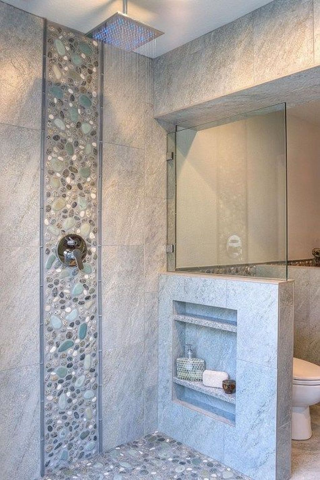 The Best Stone Tile Bathroom Ideas To Decorate Your Bathroom 12