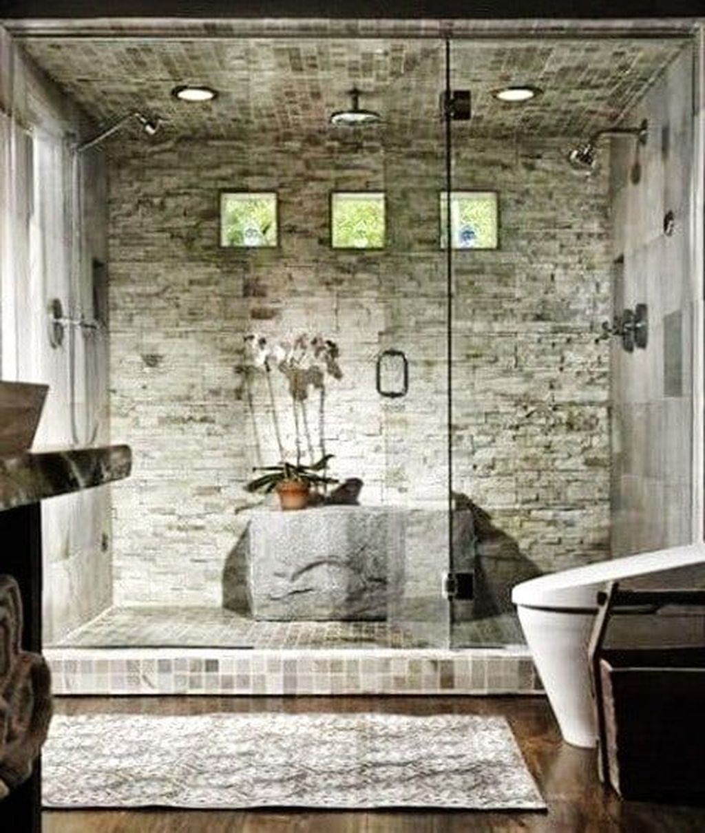 The Best Stone Tile Bathroom Ideas To Decorate Your Bathroom 14