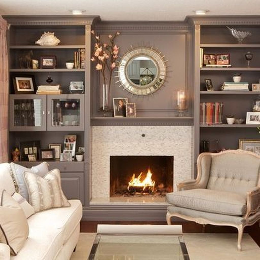 Awesome Living Room Design Ideas With Fireplace 03