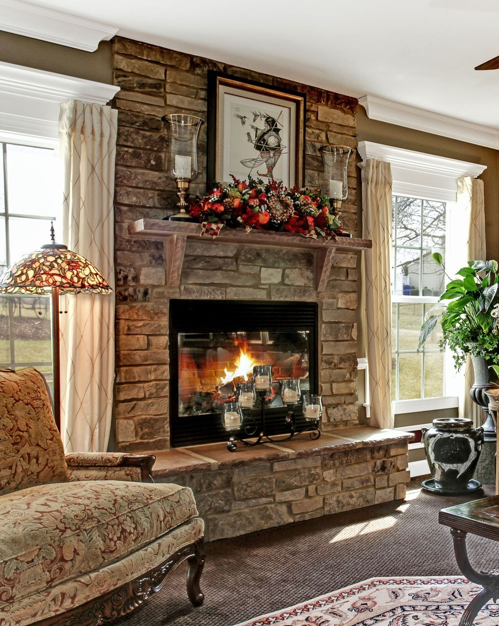 Awesome Living Room Design Ideas With Fireplace 08