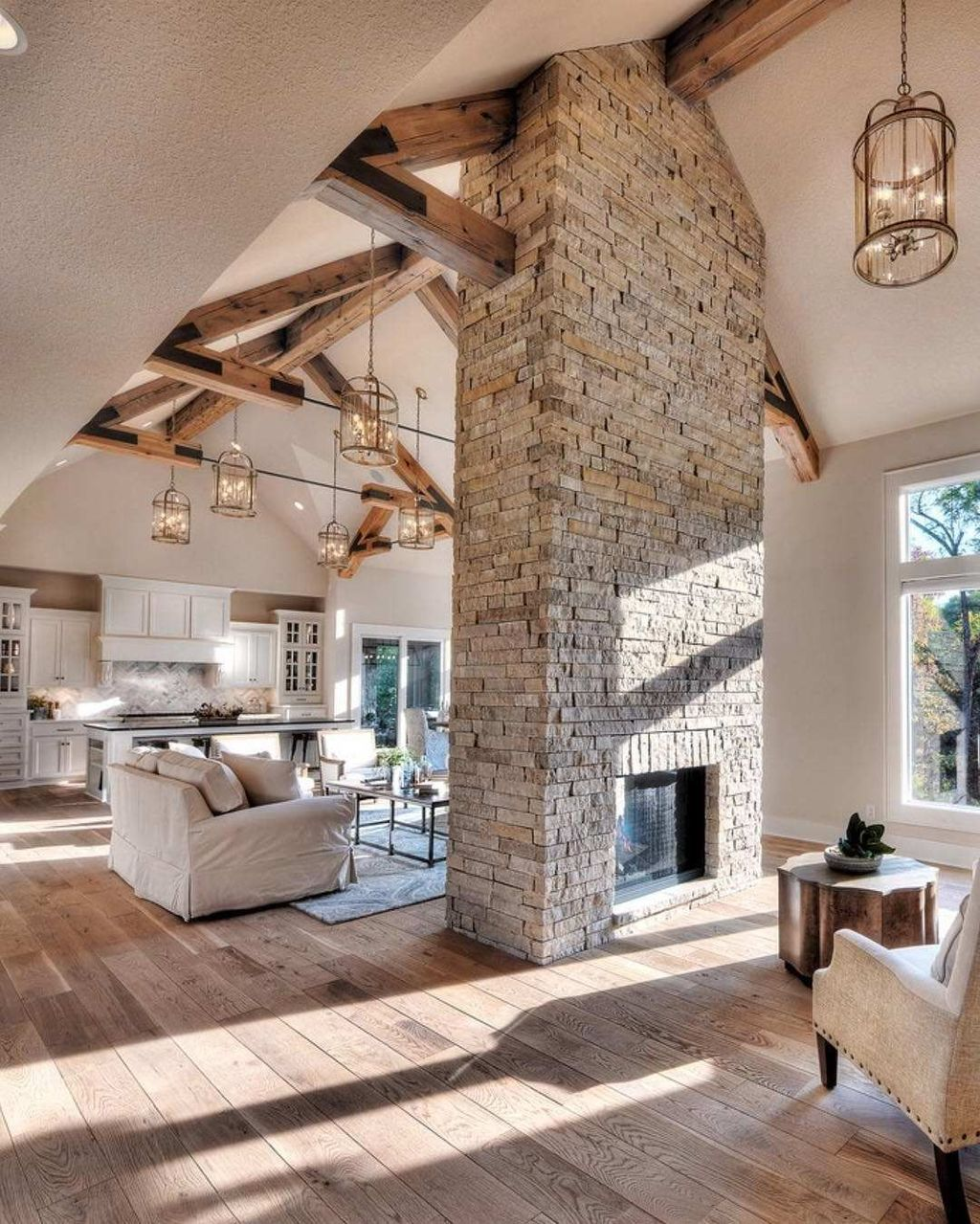 Awesome Living Room Design Ideas With Fireplace 19