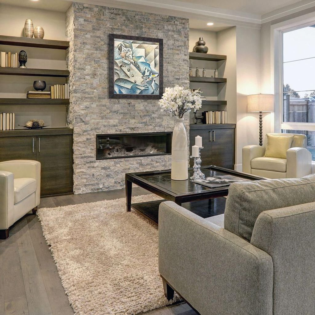 Awesome Living Room Design Ideas With Fireplace 20