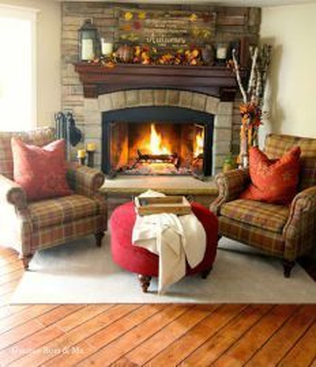Awesome Living Room Design Ideas With Fireplace 21