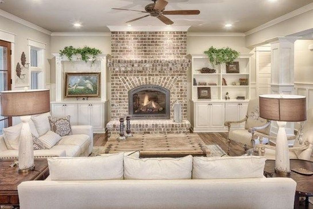 Awesome Living Room Design Ideas With Fireplace 30
