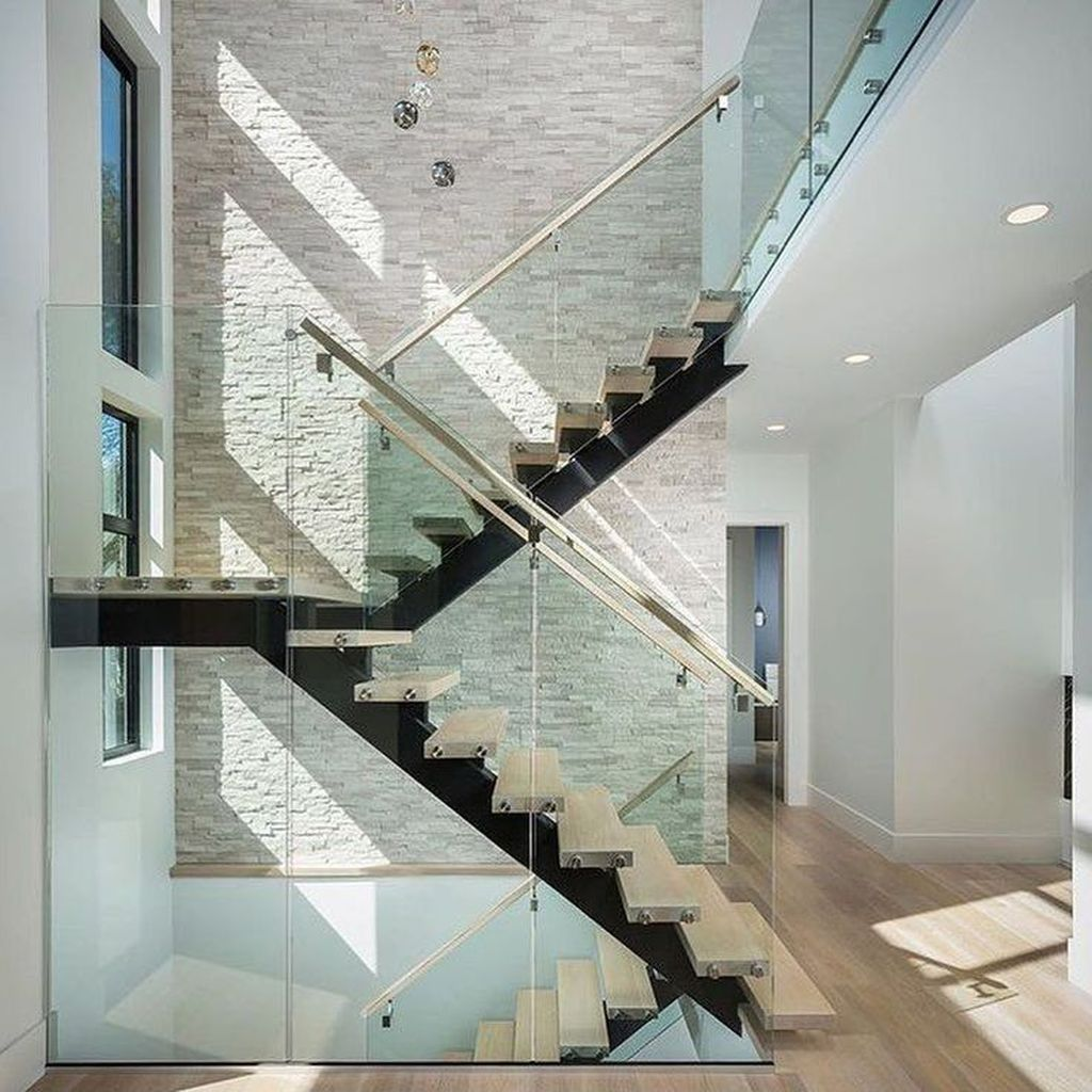 Beautiful Home Stairs Design Ideas With Modern Style 12