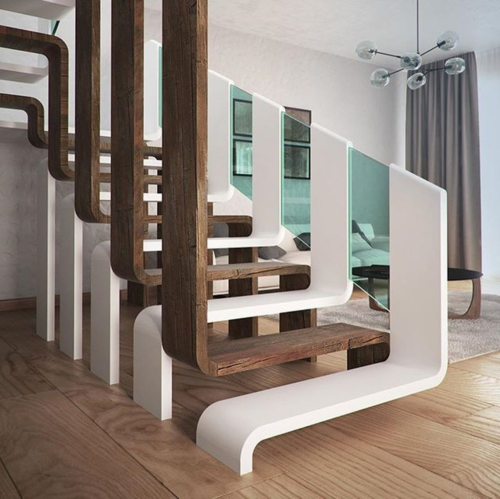 Beautiful Home Stairs Design Ideas With Modern Style 16