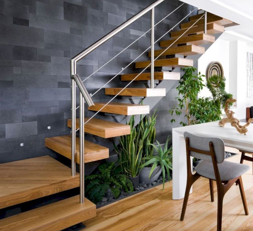 Beautiful Home Stairs Design Ideas With Modern Style 24