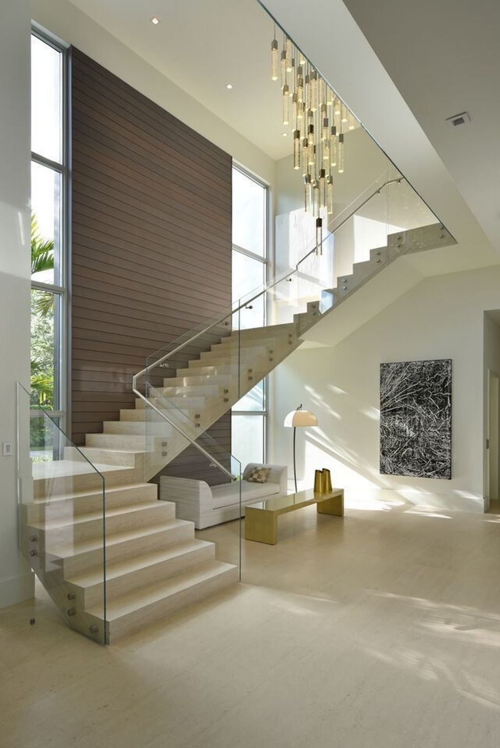 Beautiful Home Stairs Design Ideas With Modern Style 31