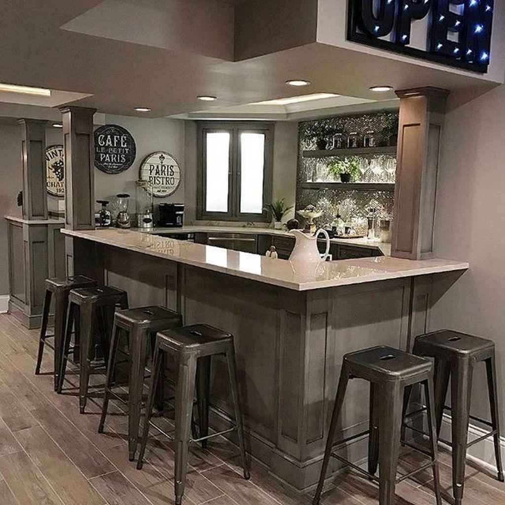 Popular Small Home Bar Design Ideas 22