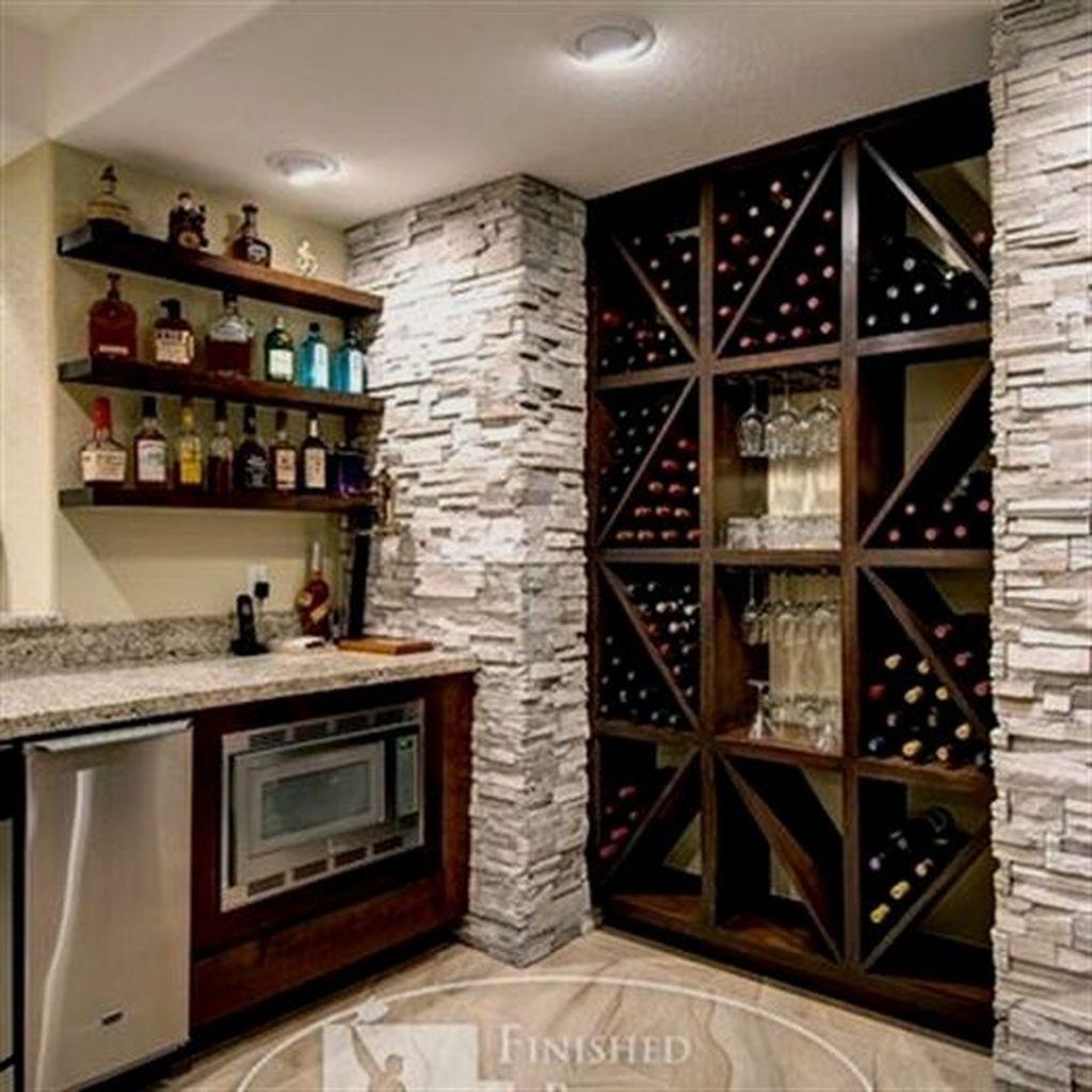Popular Small Home Bar Design Ideas 23