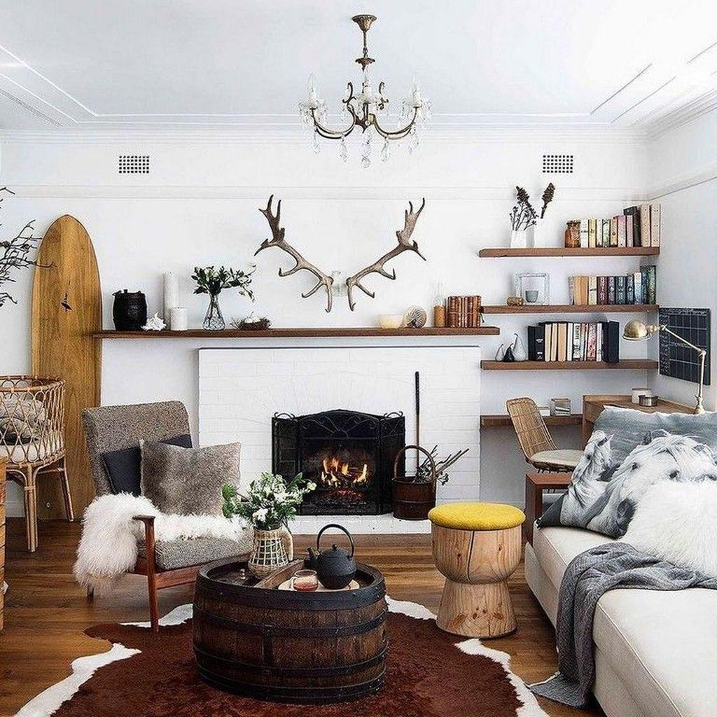 Fabulous Winter Living Room Decor Ideas 30