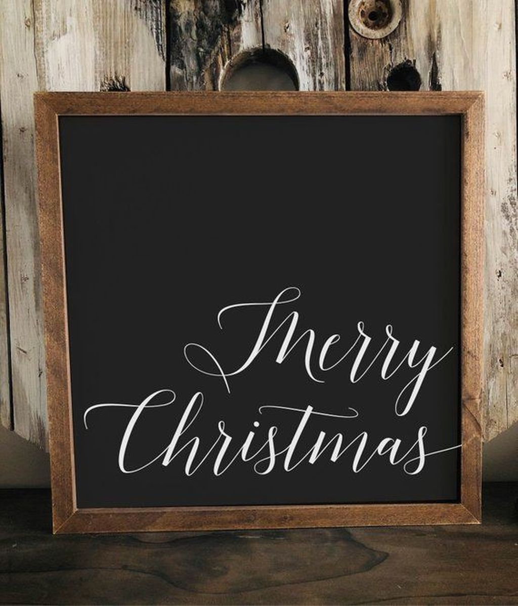 Inspiring Christmas Chalkboard Signs Design Ideas 07