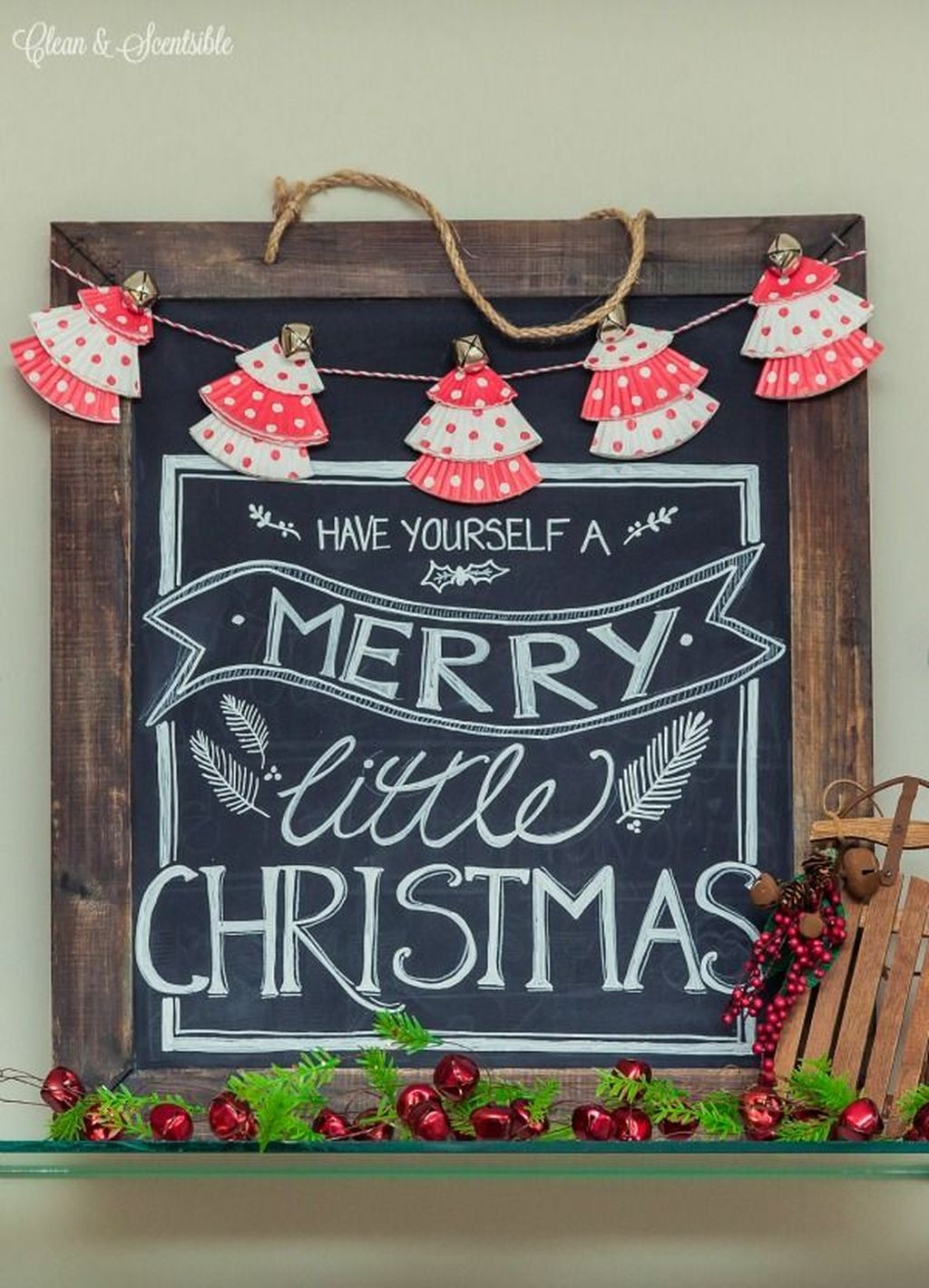 Inspiring Christmas Chalkboard Signs Design Ideas 12