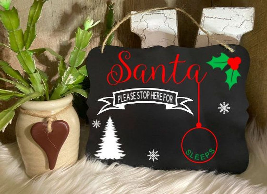 Inspiring Christmas Chalkboard Signs Design Ideas 13