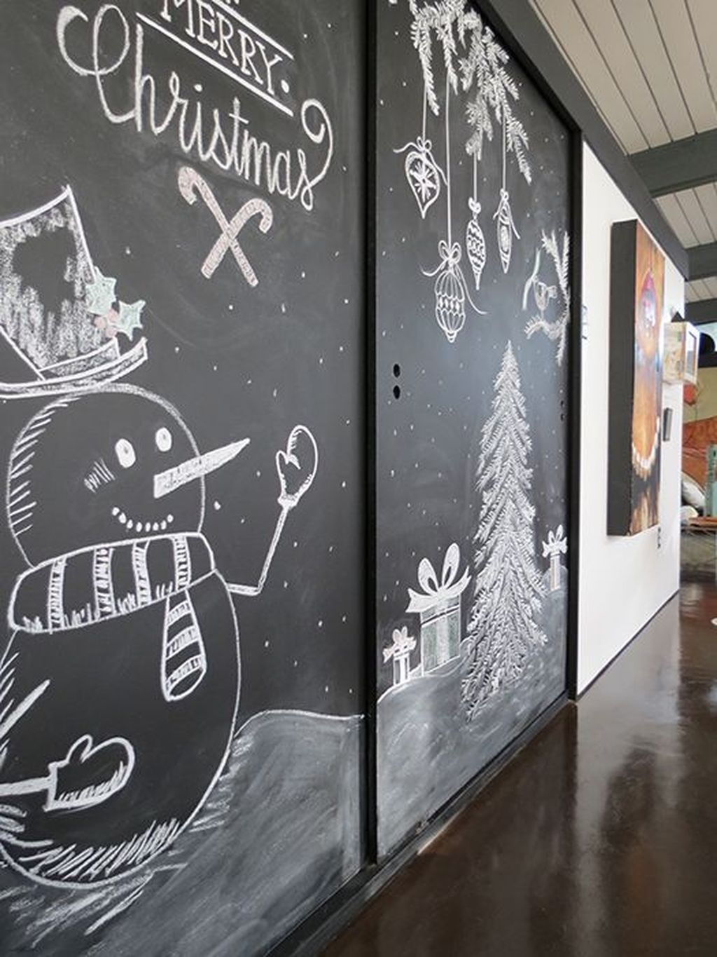 Inspiring Christmas Chalkboard Signs Design Ideas 21