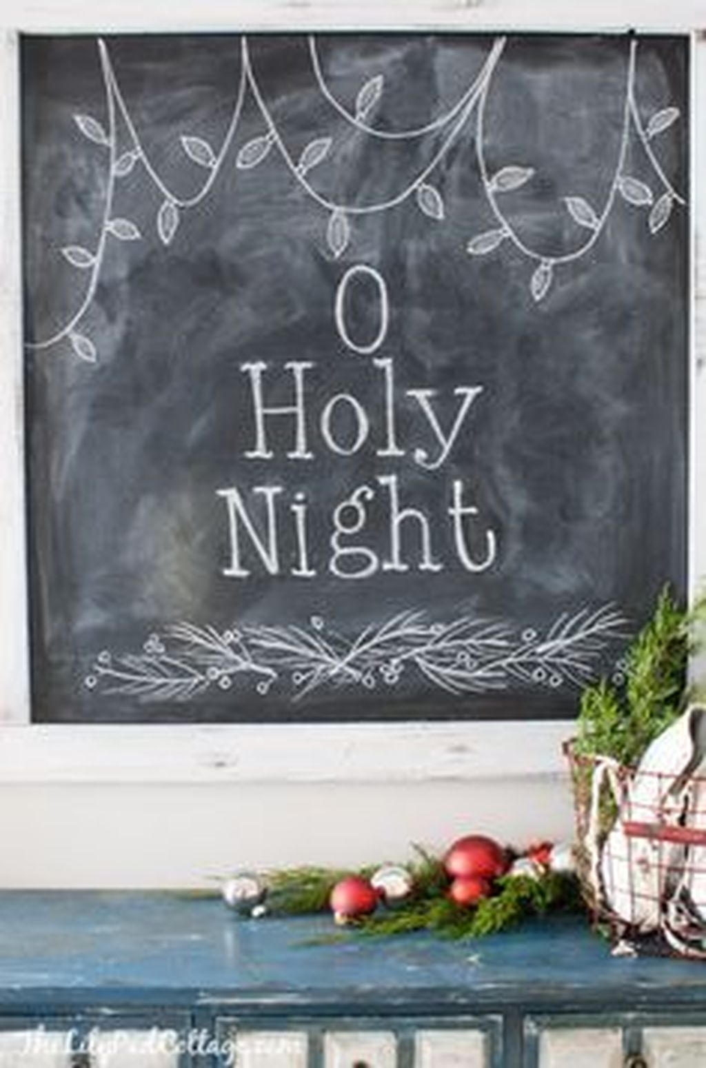 Inspiring Christmas Chalkboard Signs Design Ideas 24