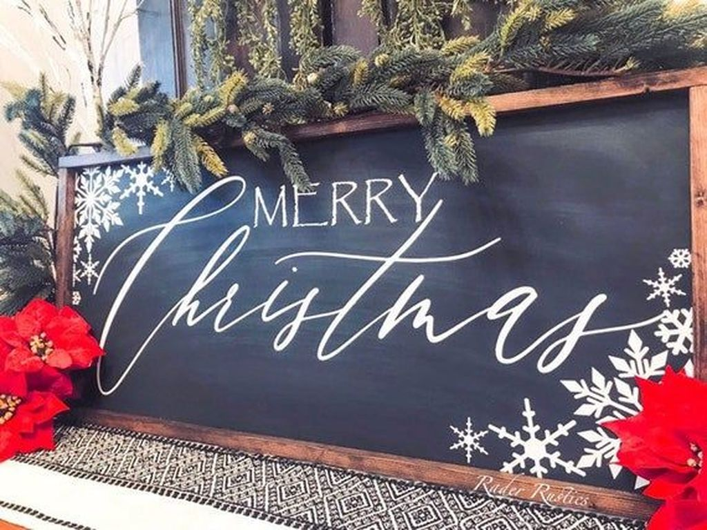 Inspiring Christmas Chalkboard Signs Design Ideas 34