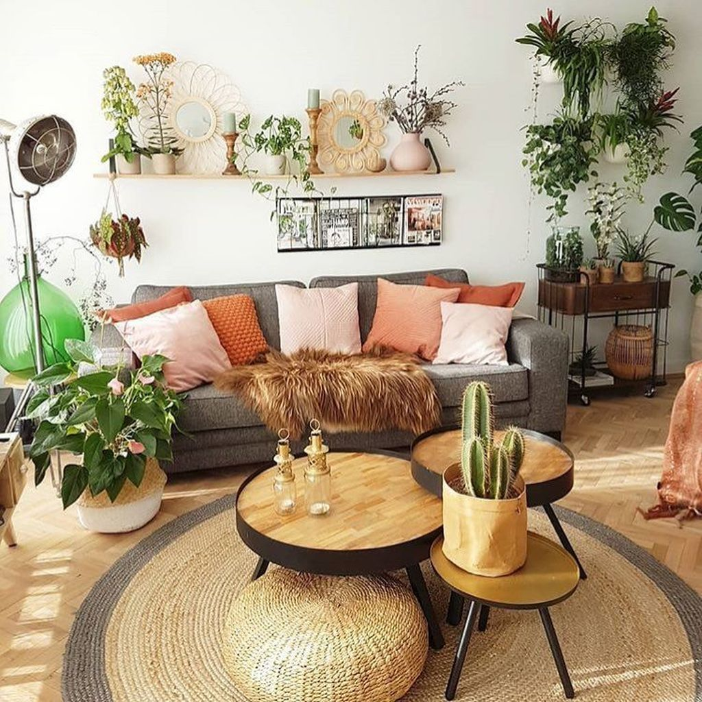 35 Lovely Bohemian Living Room Decor Ideas - MAGZHOUSE on Bohemian Living Room Decor Ideas  id=97049